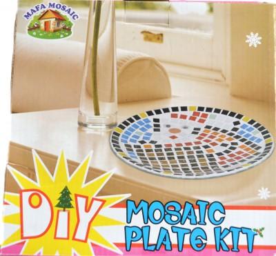 Bastelset Mosaik Glasteller Weihnachtenca. 20 cm Geschenkidee