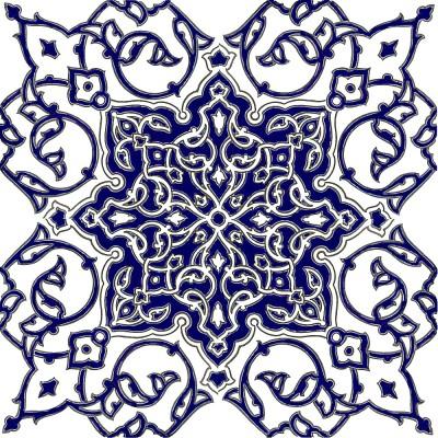 Orientalische Bodenfliese 33x33 cm Aseman-Boden