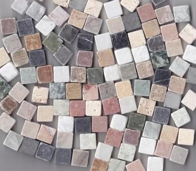 Marmorsteine Buntmix 1,5x1,5 cm, 500g. - ca. 100-105 St.