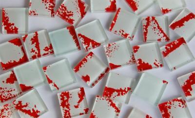 Glas Mosaiksteine N11, 2,5x2,5cm 30 St.- ca. 160g.