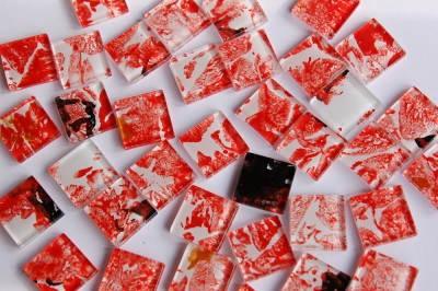 Crystal Mosaik N57, 2,5x2,5cm 30 St.- ca. 160g.