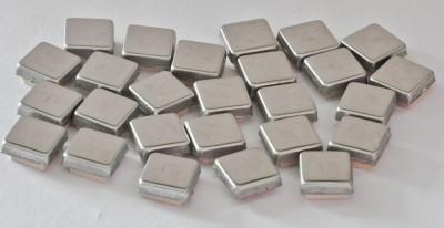 Metall Mosaik Silber glänzend 1x1cm 80 St.- ca. 60g