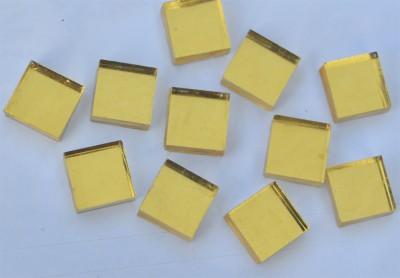 Goldmosaik Gelbgold glatt 1x1cm 10 St.- ca. 9g.
