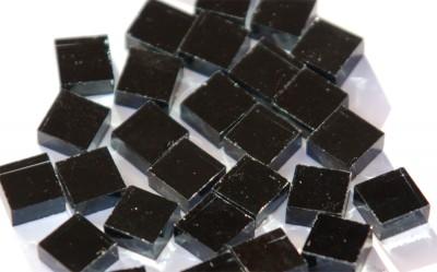 Spiegelmosaik schwarz 1x1cm Stärke 4-5mm 100 St.- ca. 85g.