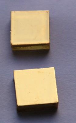 Goldmosaik glatt 2x2cm 2 St.- ca. 6g.