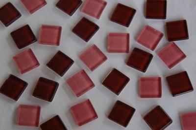 Mosaiksteine Mix hellrosa/braunviolett 2x2 cm 104 St.- ca. 380g