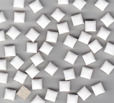 Mini Mosaiksteine Keramik weiß 1x1cm 100g ca. 100 St.