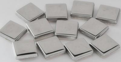 Metall Mosaik Silber glänzend 1,5x1,5 cm 50 St.- ca. 115g