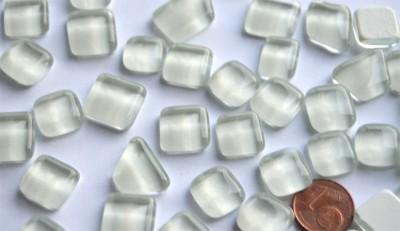 Glas Mosaiksteine unregelmäßig weiß 200g ca.130-150St.