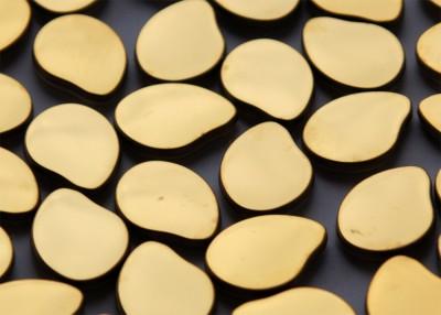 Metall Mosaik Pebbles gelbgold N2 glänzend 3,6x2,7cm 1 St.-ca.6g