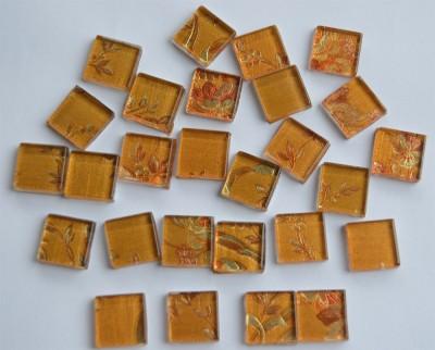 Mosaiksteine mit auffälligem Muster Blumen, 2x2cm 30 St.-ca.110g