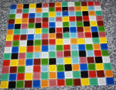 Softglas Mosaiksteine 1 Matte 0,093qm Buntmix 196 St. a2x2cm