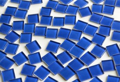 Soft-Glas Mosaiksteine  dunkelblau 2x2 cm 200g, ca. 50 St.