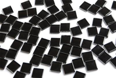 Soft- Glas Mosaiksteine schwarz 2x2 cm 100 St.- ca. 370g.