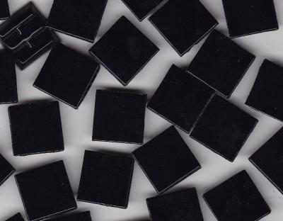 Glas Mosaiksteine 1,5x1,5 cm schwarz 500g.- ca. 330 St.