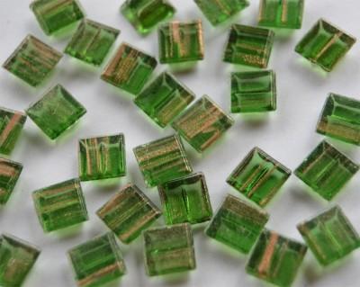 Mini Mosaik mit Flimmer grün 1x1 cm 300 St.- ca.204g