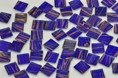 Glasmosaiksteine Flimmer dunkelblau, 1,5x1,5cm 100 St.- ca. 145g