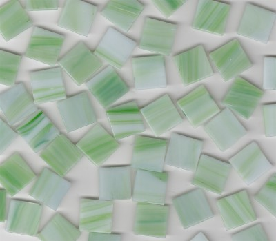 Glas Mosaiksteine marmoriert Grün 2x2 cm 50 St.- ca. 145g