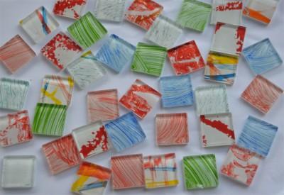 Crystal Mosaiksteine Buntmix Muster, 2,5x2,5cm 60 St.- ca.350g