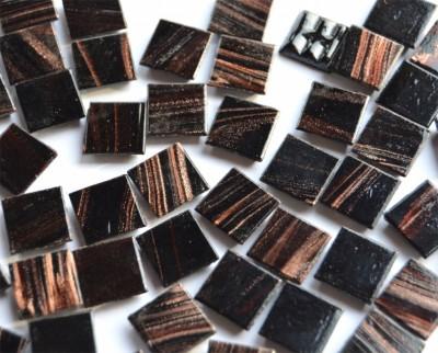 Mosaiksteine mit Flimmer (Goldline) schwarz 2x2cm 50 St.-ca.145g
