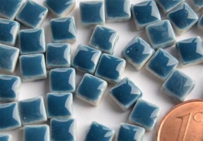 Mini Mosaiksteine azurblau, 5x5mm, 20g - ca. 120-150 St.