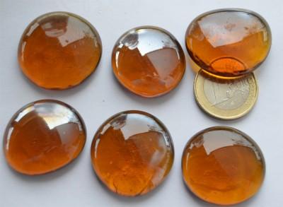 Deko Mosaiksteine Glasnuggets 26-33mm rost 6 St.- ca. 60g