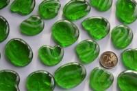 Dekosteine Glas Pebbles gemustert 4-5 cm grün 4 St.- ca. 70g