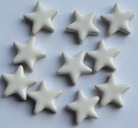 Keramikmosaik Stern 15 mm weiß 10 St.- 7g