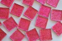 softglas Mosaiksteine auffälliges Muster pink 2x2cm 30St.-ca110g