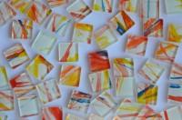Mosaiksteine (Softglas) mit Muster N780, 2x2 cm 80 St.- ca. 280g