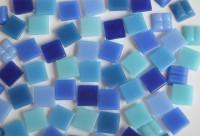 Mini Mosaik Blaumix 1x1cm 1000 St. ca. 700g.