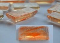 transparente Mosaiksteine orange 1,5x3,15cm 20 St.- ca. 100g