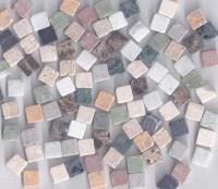 Marmorsteine Buntmix 1x1x,04 cm, 100g. - ca. 100 St.