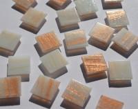 Mosaiksteine mit Flimmer (Goldline) weiß 2x2cm 50 St.- ca. 145g