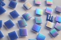 Glasmosaiksteine schimmernd 2x2 cm blau 50 St.- ca. 145g