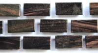 Mosaiksteine mit Flimmer (Goldline) schwarz 1x2cm 200g- ca150St.