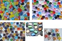 Mosaiksteine Bastelmix2 aus 5versch. Artikeln 179g. ca.200St.