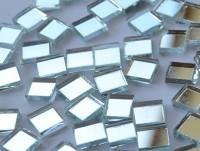 Spiegel Mosaiksteine silber 1x1cm 125g. ca. 170 Stück