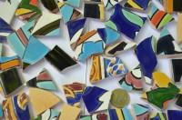 Bruchmosaik aus Fliesenbildern Muster2, 500g- ca. 50-70St.