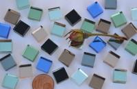 Spiegelmosaik Buntmix 1x1cm Stärke 4-5mm 100 St. ca100g