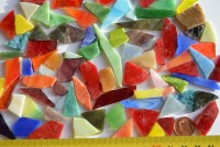 Mini Tiffany-Glas Bruchmosaik bunt 100g, 50-80St.