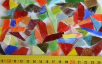 Mini Tiffany-Glas Bruchmosaik bunt 100g, 50-80St.
