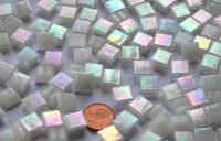 Minimosaik weiß mit Regenbogenschimmer 1x1cm, 200 St.- ca136g