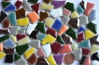 Mini Bruchmosaik 5-20mm aus Keramik Buntmix 100g ca.90St.