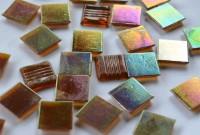 Mosaiksteine terra mit Regenbogenschimmer 2x2 cm  50 St.-ca.145g