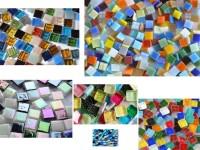 Kennenlernmix: Mosaiksteine 1x1cm aus 6 Art. 560 St. ca. 410g.