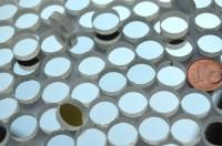 Spiegelmosaik rund 12mm silber Stärke 4-5 mm 15 St.- ca.18g