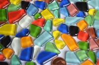 Mosaiksteine unregelm.(Soft-Glas) bunt 200g ca.130-150St.B-Ware!