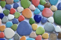 Pebbles Mosaiksteine aus Keramik Buntmix 300g. -ca. 60 St.