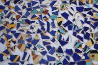 Bruchmosaik aus Fliesenbildern Muster N3, 500g- ca. 50-70St.